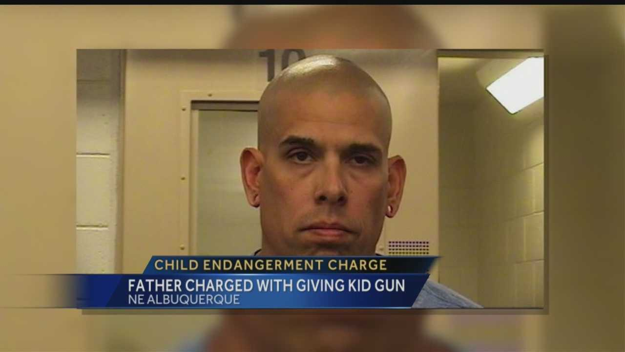 An Albuquerque dad is in serious trouble -- police said he left a loaded gun with his 11-year-old daughter recently, telling her to use it for protection.