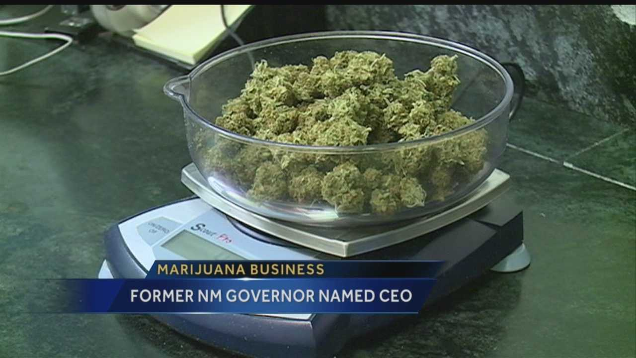 Former New Mexico Governor Gary Johnson has a new job.  He's the CEO and president of a new marijuana company.
