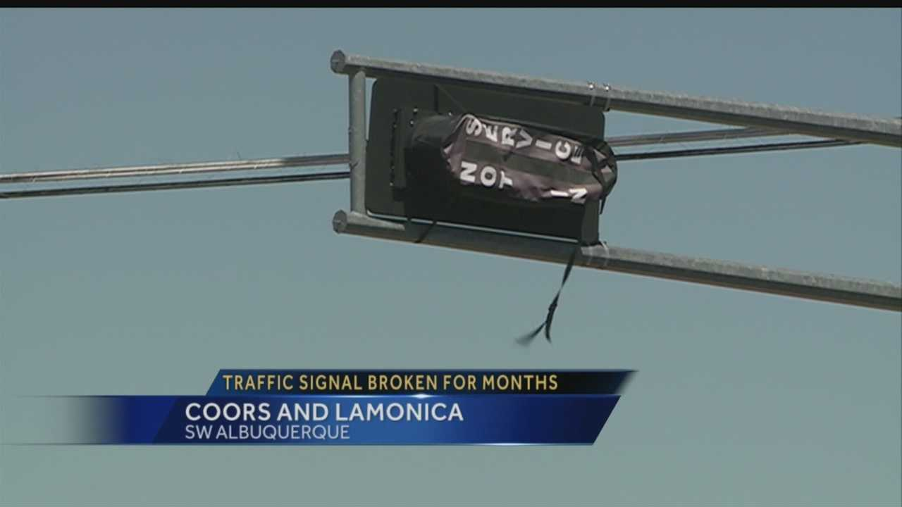 Traffic signal broken for months gets fixed