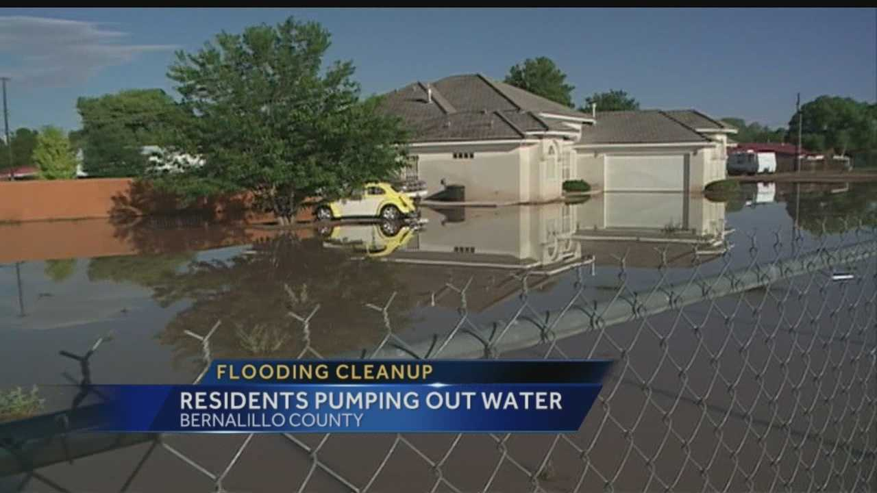 One South Valley man says crews pumped 40,000 gallons of water off his property Thursday.