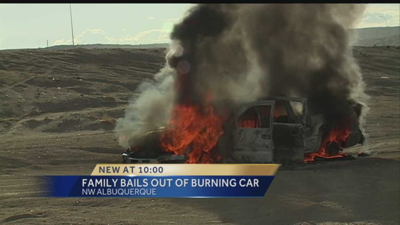 A truck burst into flames Monday afternoon on Los Volcanes in west Albuquerque.