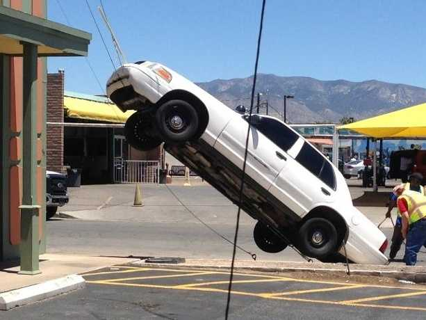 Or that time a woman drove up the guide wire of a power pole in Albuquerque. More Details: http://ow.ly/yYH0a