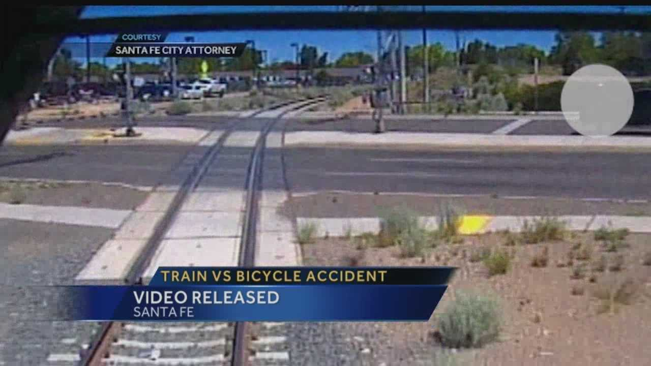 Train vs. bicycle accident video released
