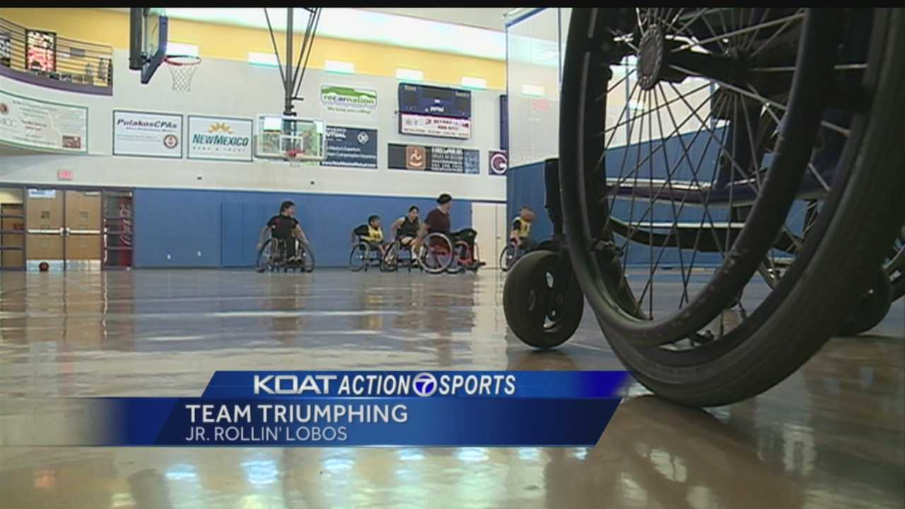 It's the only one in the state-a team of local kids whose eyes have been opened to new possibilities thanks to sports and the guidance of a gold medalist. KOAT Action 7 News sports director Orlando Sanchez introduces us to the Junior Rollin' Lobos
