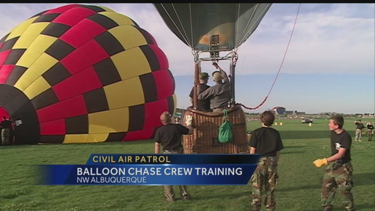 Some Civil Air Patrol Volunteers are learning how to help on the ground as chase crews when New Mexico's hot air balloons fly.