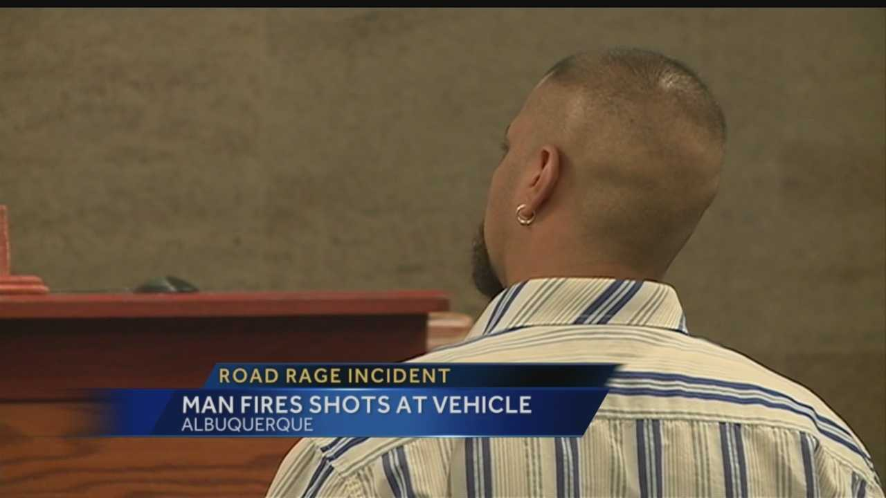 An Albuquerque man is accused of firing gunshots at a car filled with kids.