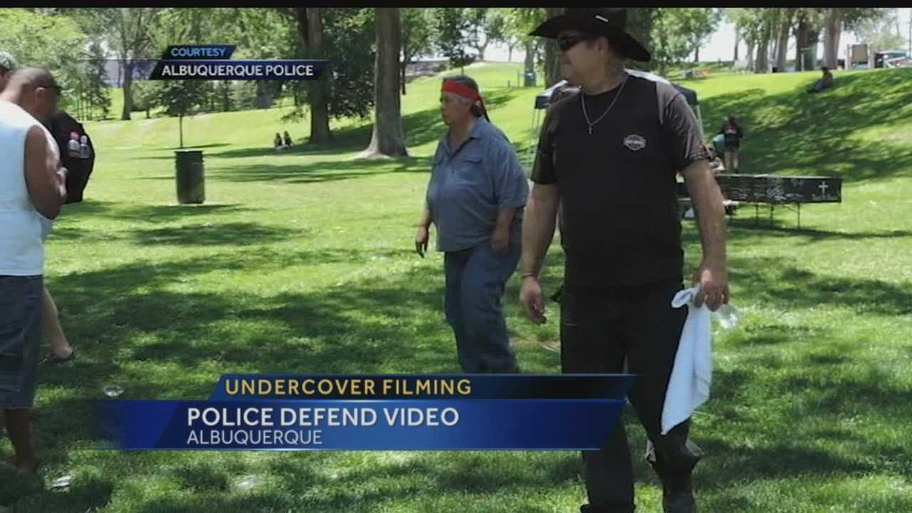 Albuquerque police said the videotaping of a well-known critic of the department at a rally was an accident, not surveillance.