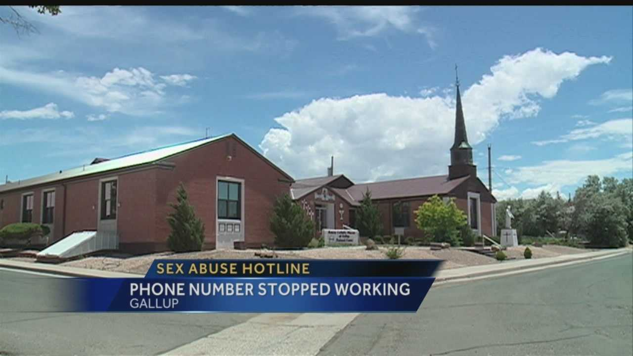 A hotline set up for people abused by clergy members in the Gallup Diocese stopped working for almost two weeks.