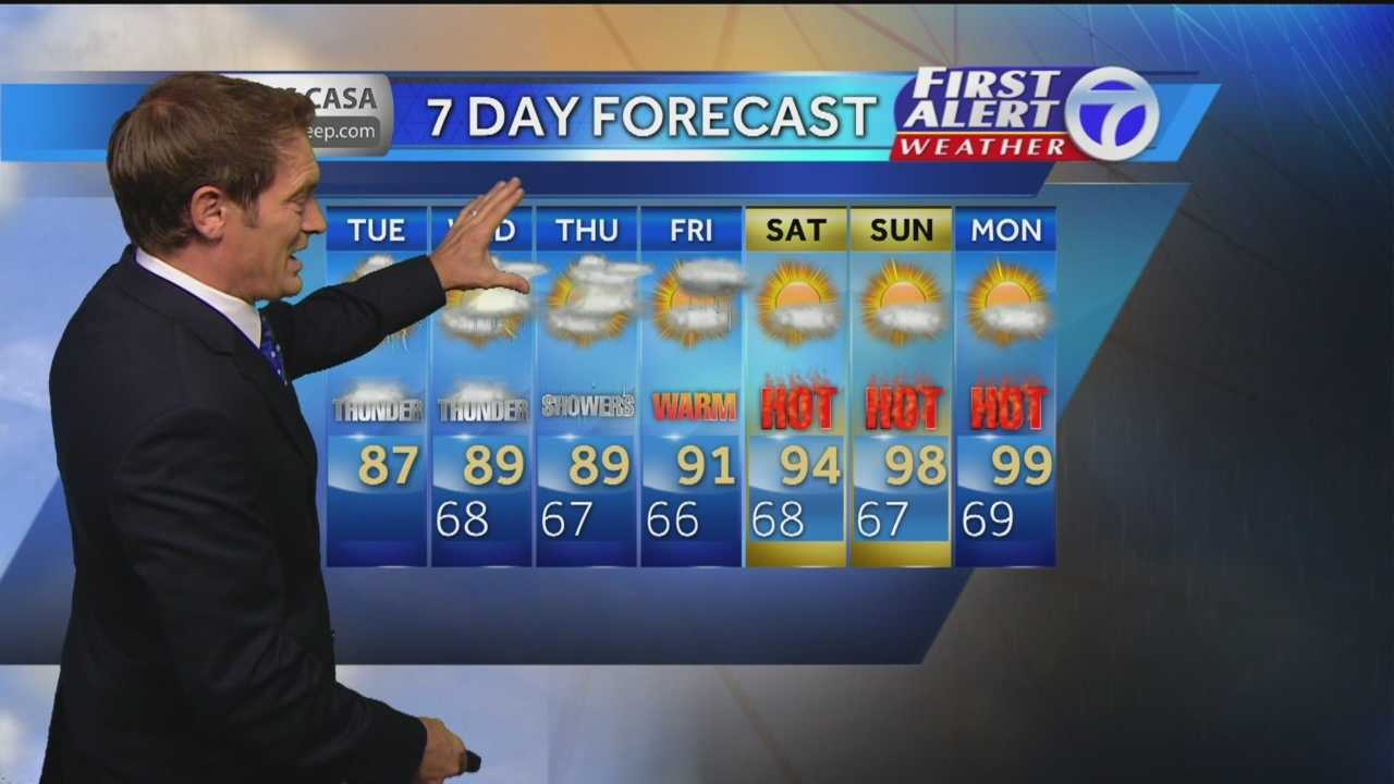 Eric Weather Forecast for Tuesday July 15th