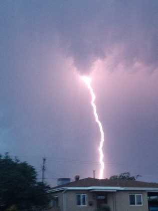 Lightning in Albuquerque's Northeast Albuquerque.