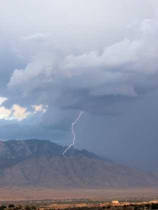 Lightning strike on Sandias from u local member Sue Palmer