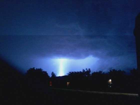 Lightning storm in Albuquerque from u local mobile