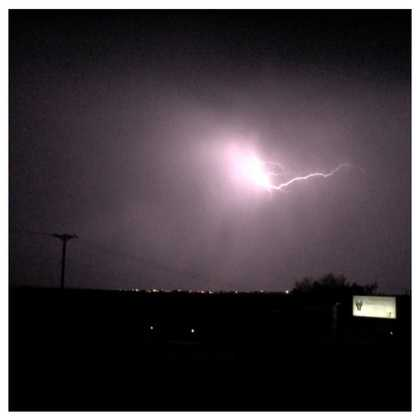 Lightning, but no rain from u local member Paul Stewart