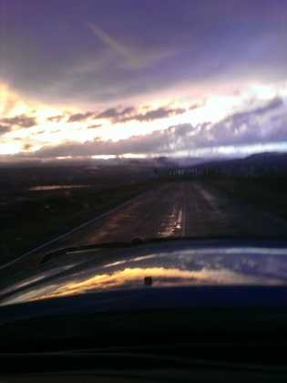 Rainy road just south of Chama from u local mobile