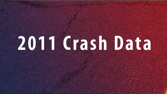 The following crash data is from 2011. Intersections with same amount of crashes received the same ranking.