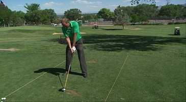 The Fix: Don't overswing, keep your right elbow (for a right-handed golfer) close to your body and don't stand too far from the ball. CLICK HERE to watch a pro show you how to do it right.