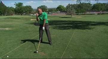The Fix: Align the ball straight out from your forward foot.