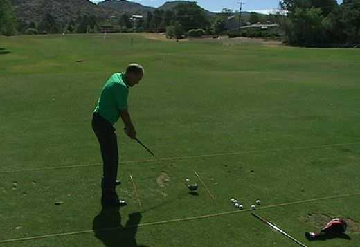 The Fix: Here's an example of good posture where the knees are slightly bent and the back is angled.