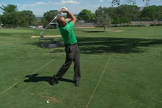 The Fix: Focus on solid hits and use a lower number club if you need to hit the ball farther.
