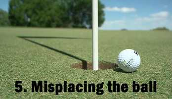5.   Misplacing the ball before using a driver