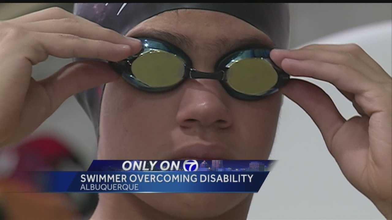 He's fearless, talented, and isn't letting a freak accident stop him from chasing his dreams. This athlete is making a splash in a local pool and raising the bar for kids with disabilities.