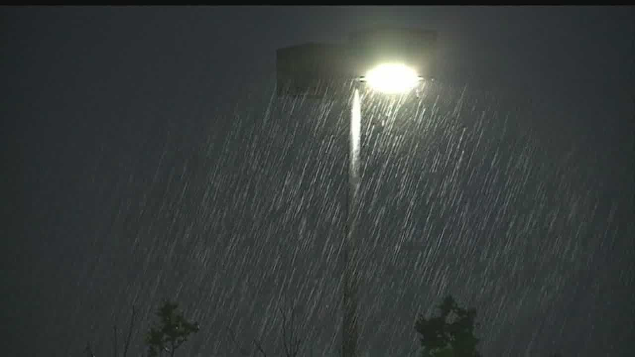 Albuquerque was once again slammed by a late evening storm.