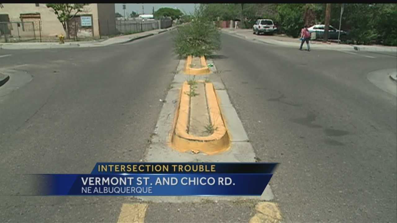 Semis hopping curbs, cars making illegal turns and fences being knocked down -- it's all happening in a small residential Albuquerque neighborhood.