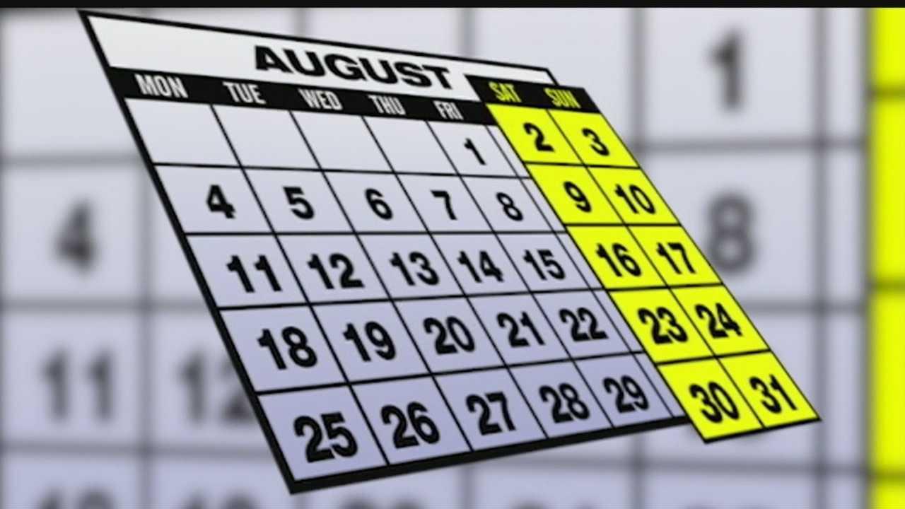 Lucky August: 5 Fridays, Saturdays and Sundays