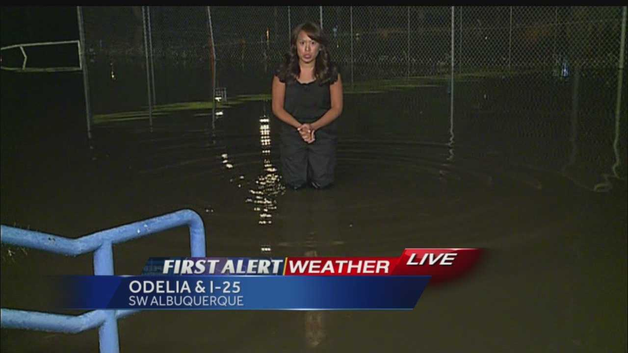 Megan Cruz high water pants today are still not high enough to stay dry from flooded areas of Albuquerque.