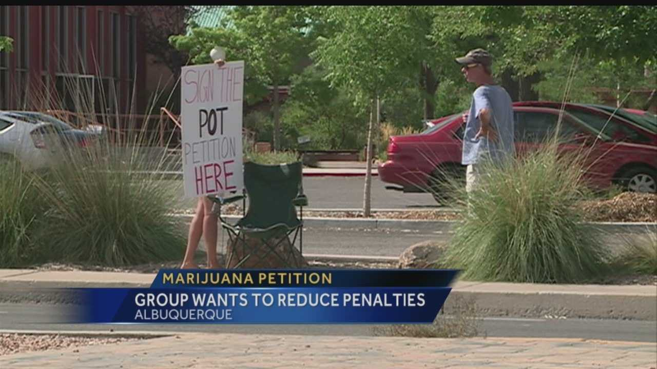 An Albuquerque group wants voters to decide if the city should reduce penalties for having pot, and they're working on a petition to get the issue on November's ballot.