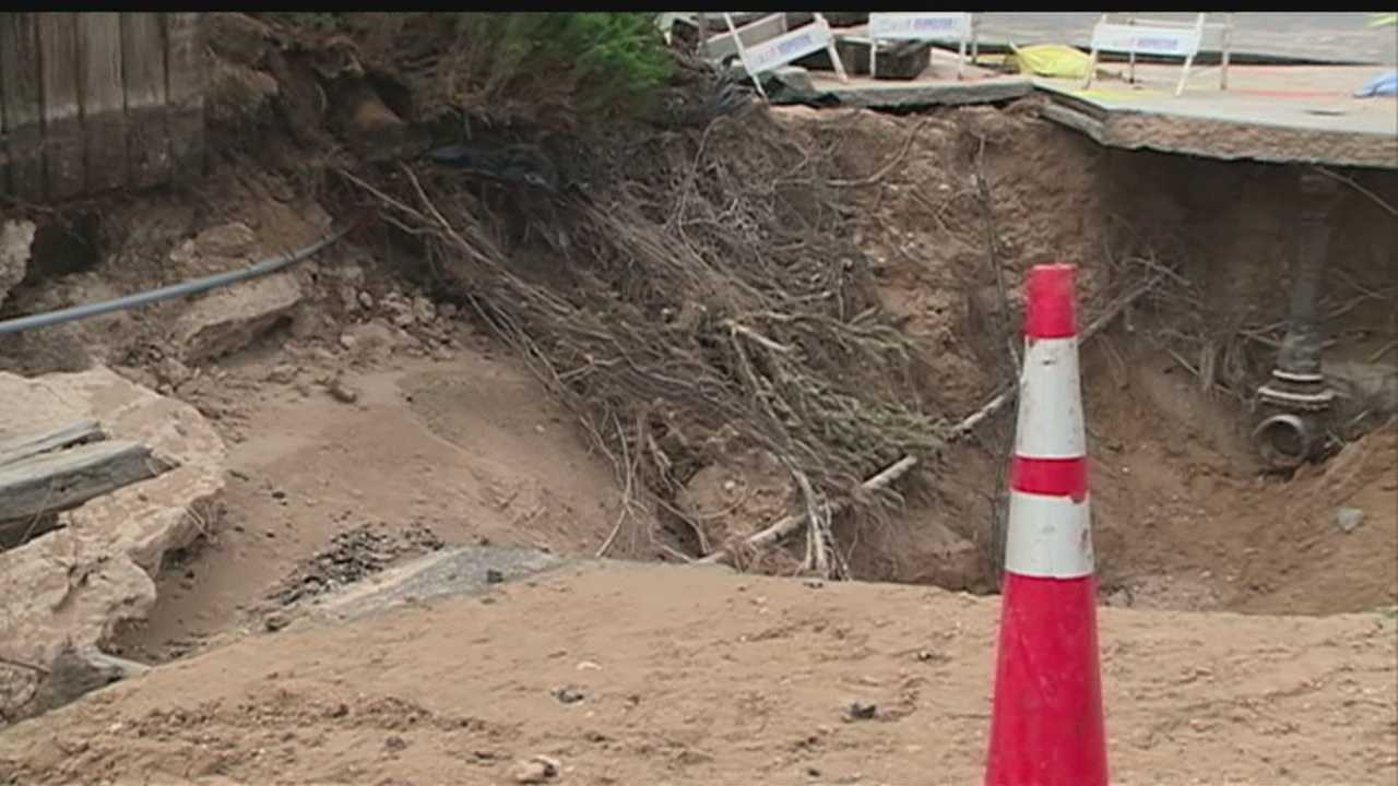 The city had checked on the water main before the break -- Angela reports.