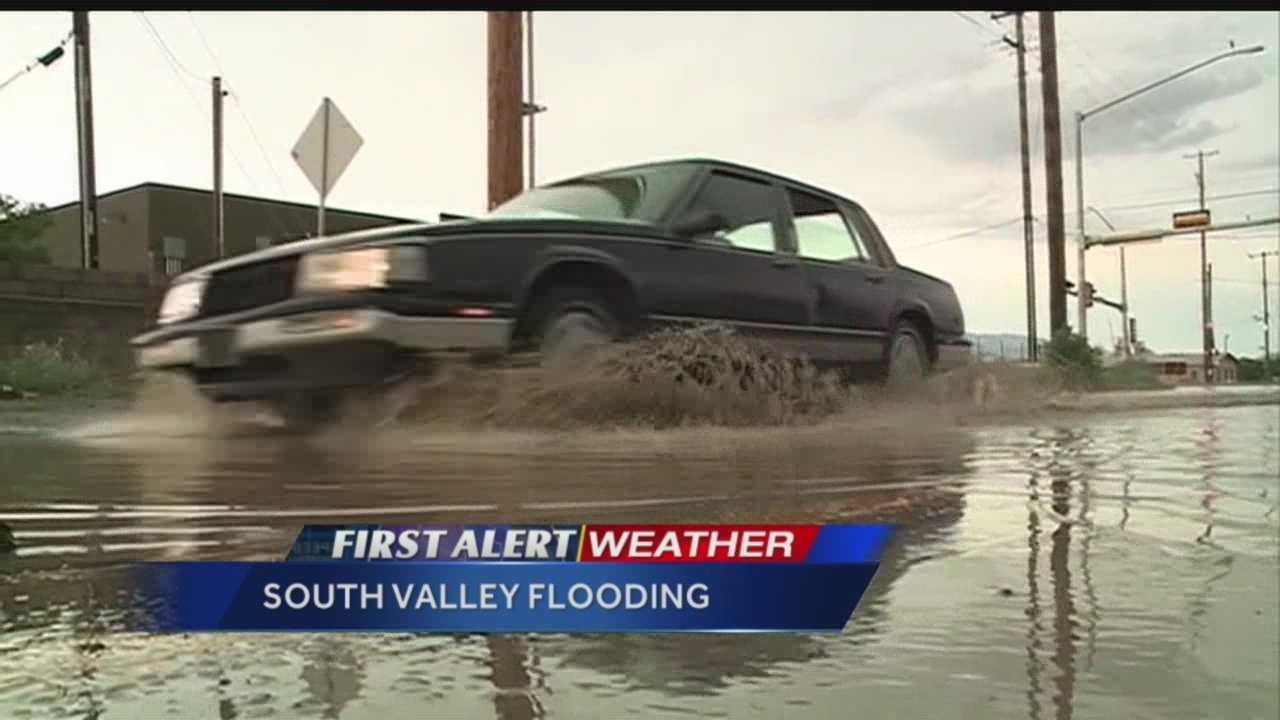 Major flooding in Albuquerque's South Valley caused some dangerous conditions Tuesday evening.