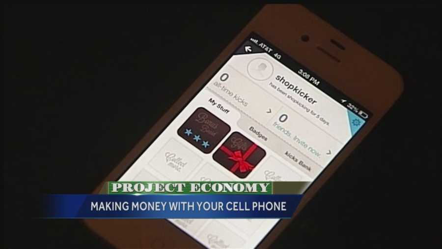 """Shopkick users get points for walking into stores like Target, Best Buy and more. Users of the app receive """"kicks"""" for walking into participating stores, scanning items and making purchases."""