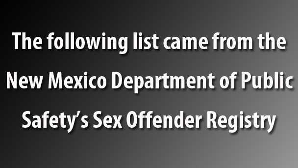 new mexico dept of public safety sex offenders