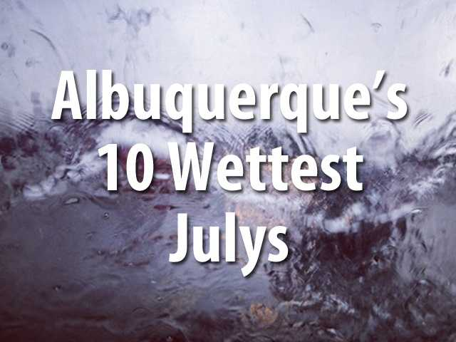 It didn't set a record, but all that July rainfall cracked the top 10. The following data is from the National Weather Service.
