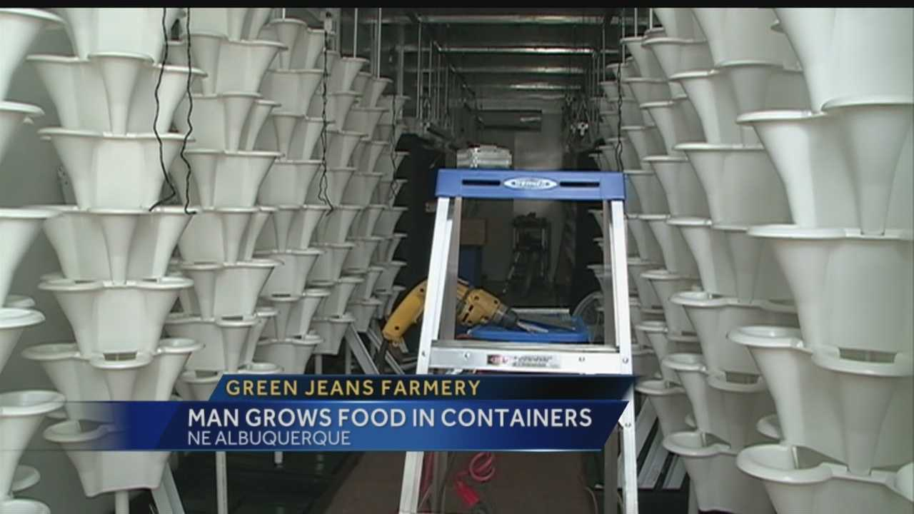 An Albuquerque man takes sustainable living to the next level by using shipping containers for growing food