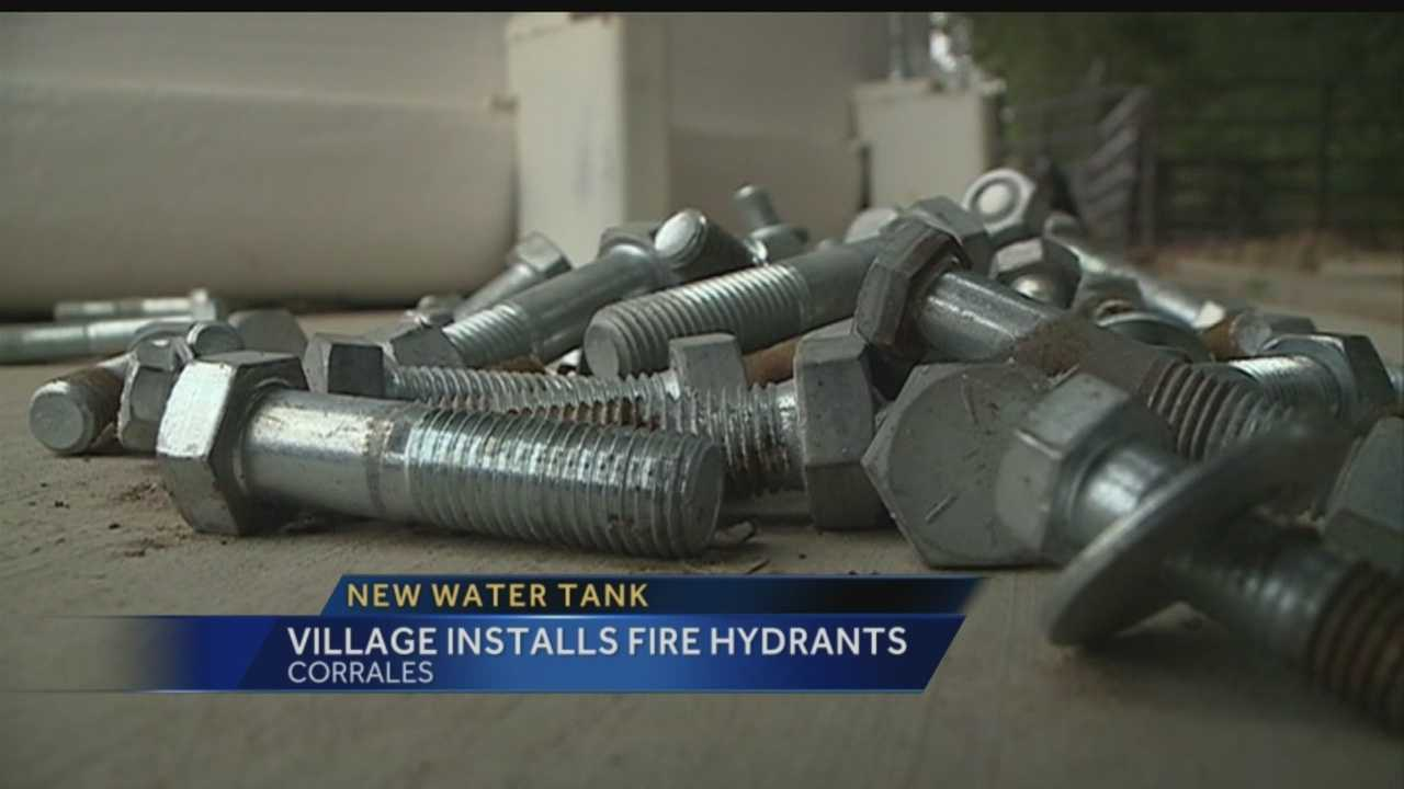 New water tank: Corrales installs fire hydrants