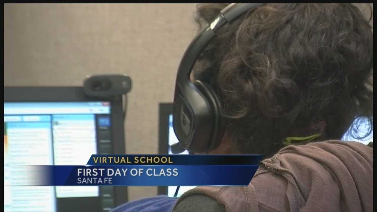 Virtual school: First day of class