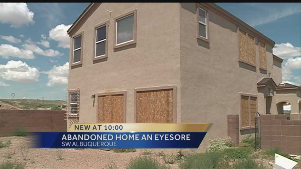 An Albuquerque house sitting vacant is an eye sore and now becoming a safety hazard, we take a look to see if the city will do anything.