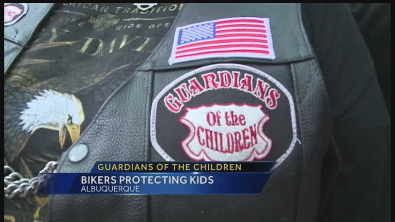 Bikers protecting kids