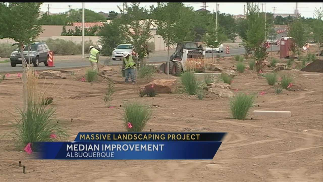 You may have noticed landscaping work being done along Eubank in Northeast Albuquerque. The city says it's part of a massive citywide landscaping project it's doing.