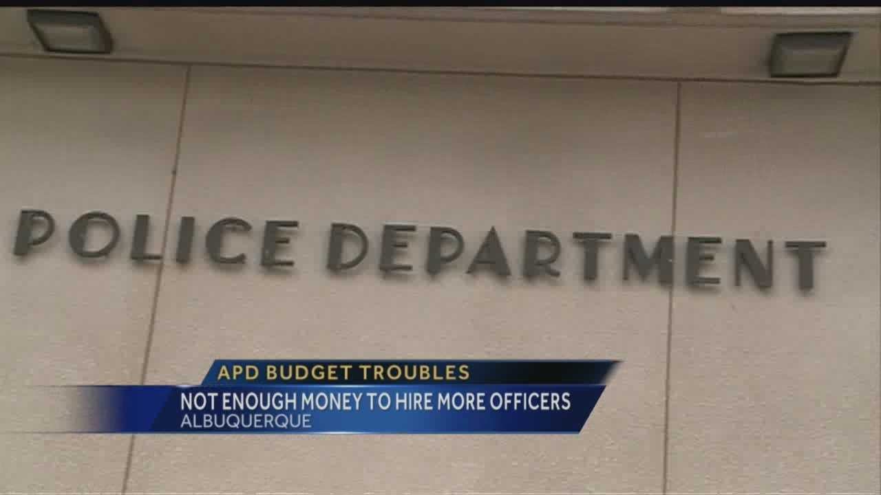 Not enough money to hire more officers