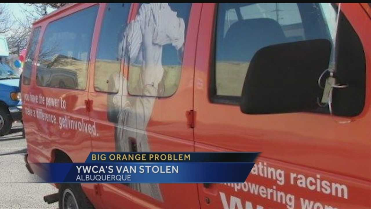 It's big, orange, and hard to miss but somehow a thief got away with the YWCA's only van.