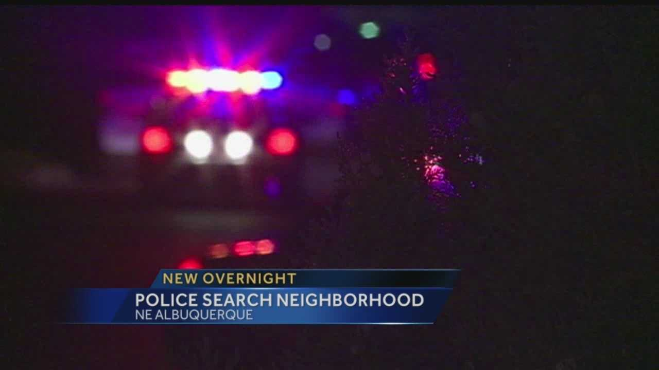 Police Search Neighborhood Overnight