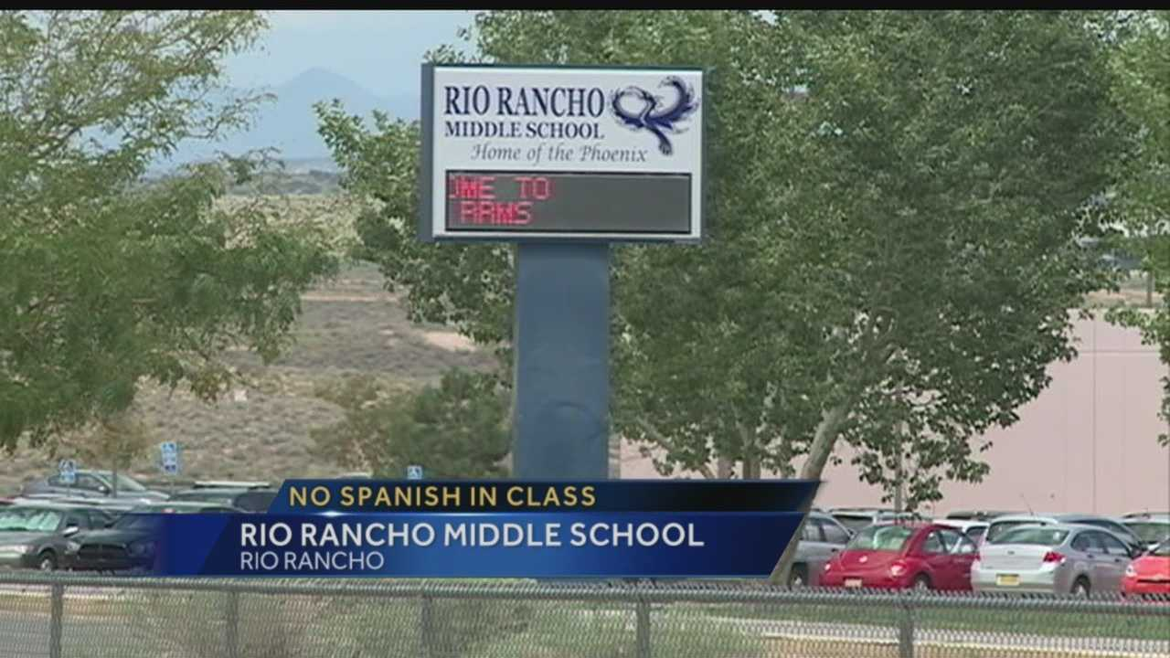 A Rio Rancho Middle School teacher told a student who was translating for her classmate, that students mother says that's unacceptable.