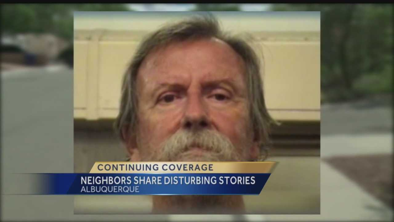Neighbors of a man who scared the families and staff at a Catholic school say it's unbelievable he's not behind bars.