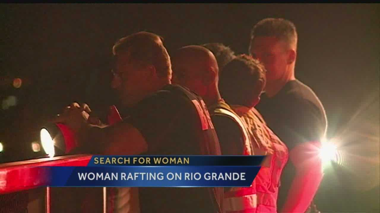 A woman is safe after getting lost Thursday night while rafting on the Rio Grande.