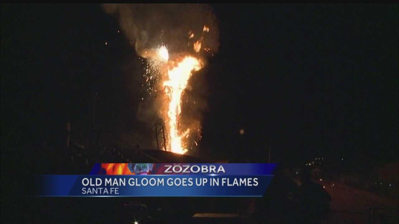 Zozobra was back to its roots this year. Old Man Gloom burned tonight, looking much like he did when this festival started in the 1920's.