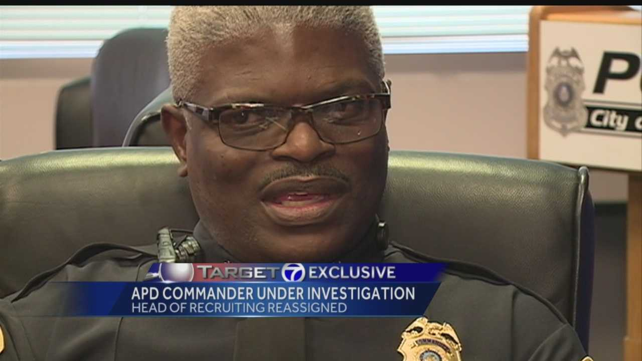 A commander is now part of an internal investigation.