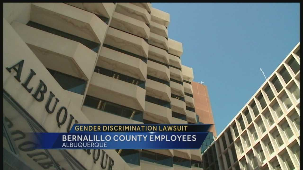 Women working for Bernalillo County claim the county's male employees are receiving more pay and all the credit in a gender discrimination lawsuit.